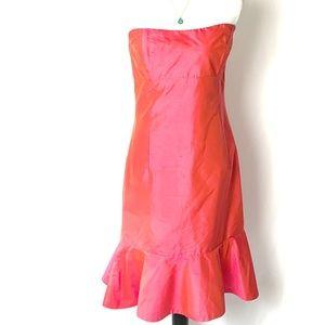 Jenny Yoo Collection Silk Strapless Pink Dress 10